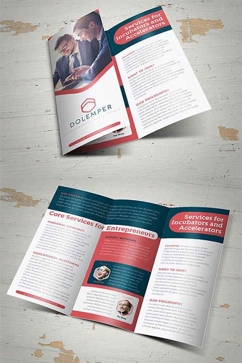 Creative Examples Of TriFold Brochure Designs  Business