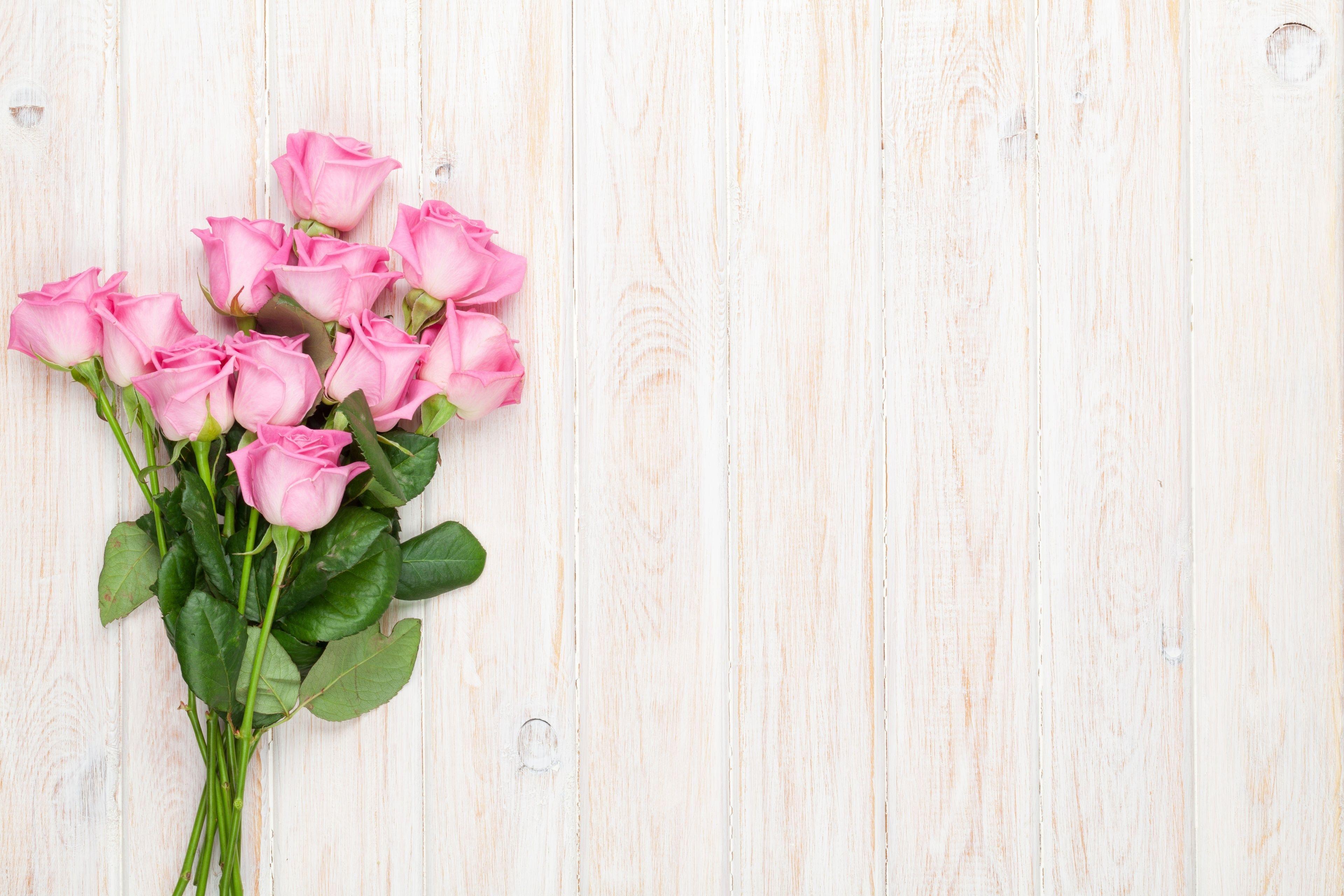 Rozowe Roze Bukiet Deski Flower Backgrounds Lights Background Rose Wallpaper