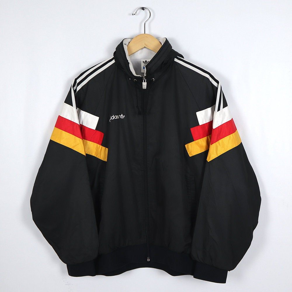 Rare Vintage 80s 90s Adidas Germany Flag Multi Color Black Etsy Jackets Custom Clothes Track Jackets [ 1000 x 1000 Pixel ]