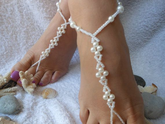 Barefoot Sandals Beach Wedding Yoga Shoes Foot By