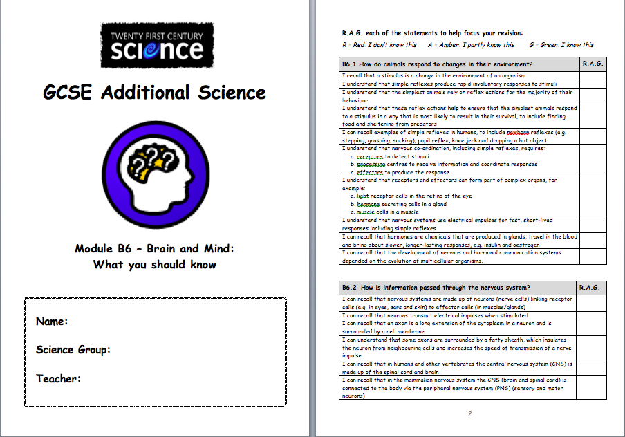 B4 21st century science notes biology