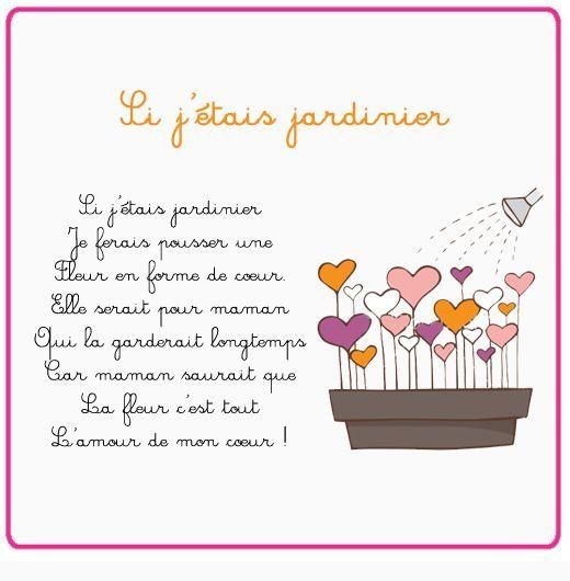 Poeme fete des meres si j 39 tais jardinier les mamans for Blythe le jardin de maman