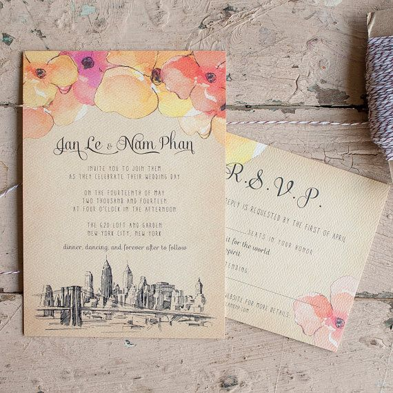 Rustic Wedding Invitations The Nyc Shabby Chic Vintage Floral Watercolor In Wedding Invitations Vintage Wedding Invitations Wedding Invitations Rustic