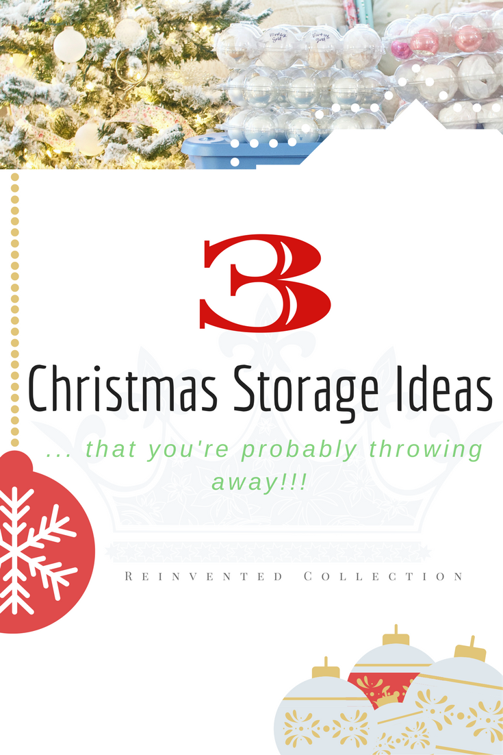 3 AWESOME Christmas storage hacks that work and have been around for over 50+ years!    #diychristmasstorage #christmashacks #diyxmasstorage
