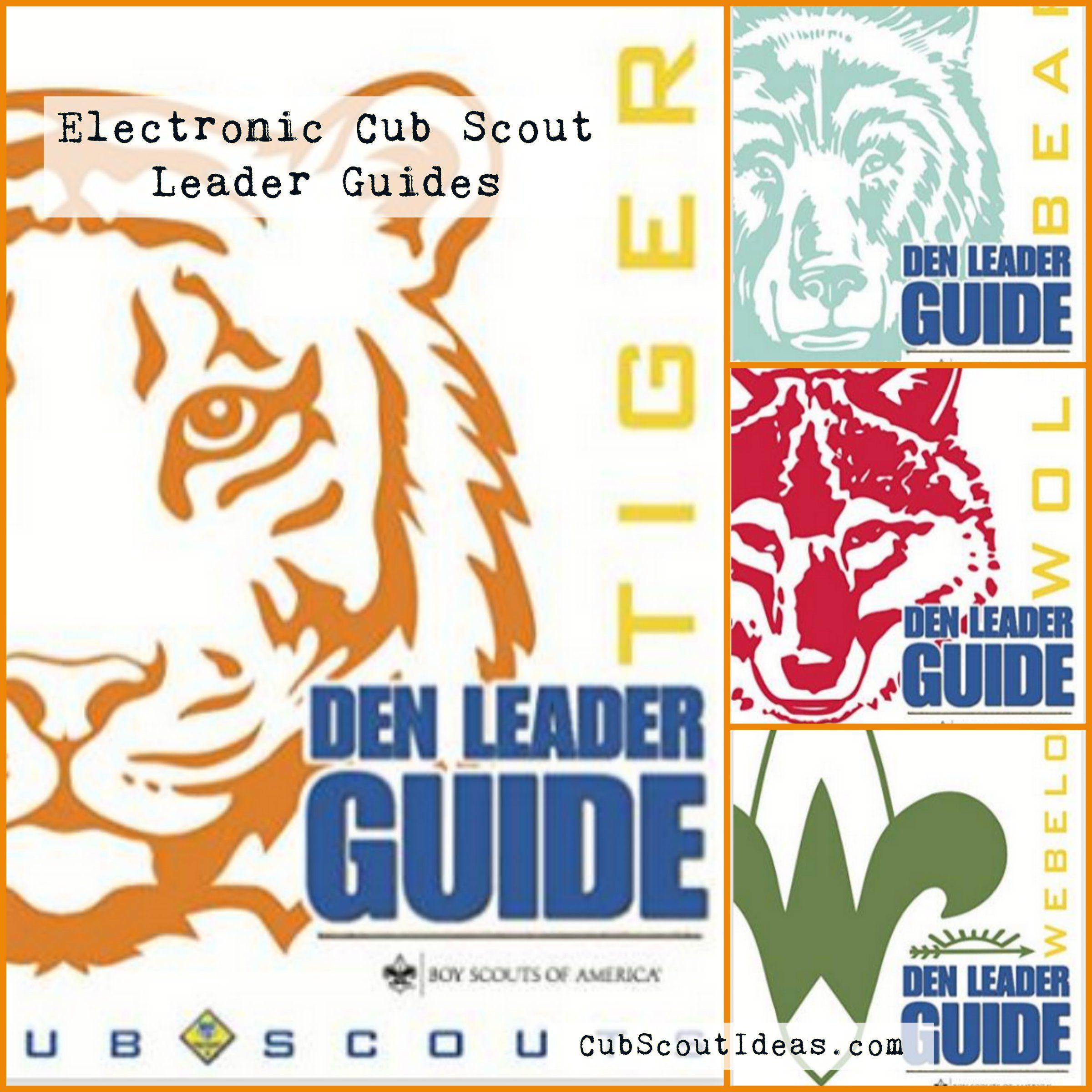 Electronic Cub Scout Den Leader Guides