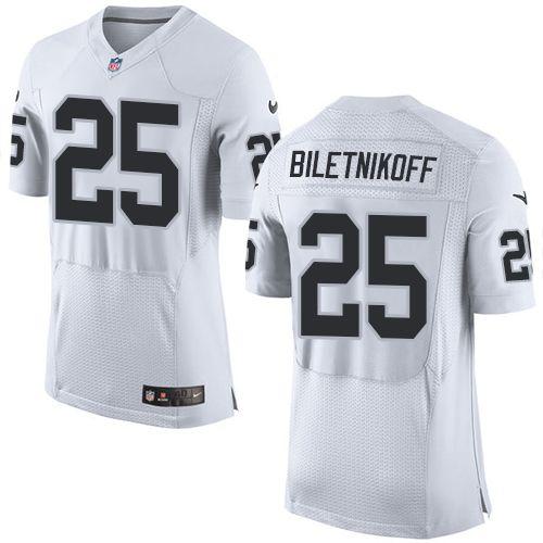 ... Nike Elite Fred Biletnikoff White Mens Jersey - Oakland Raiders 25 NFL  Road ... f258a1f37