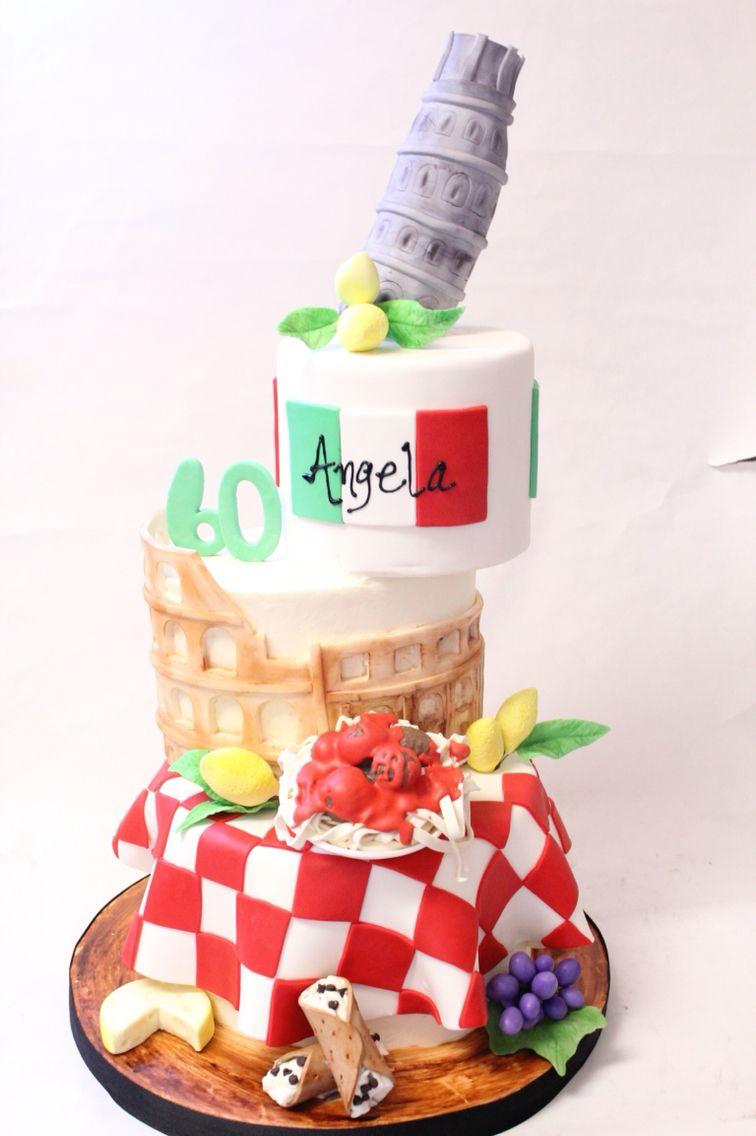 Magnificent Italy Birthday Cake 60Th Birthday Cake Food Cake Baton Rouge Funny Birthday Cards Online Bapapcheapnameinfo