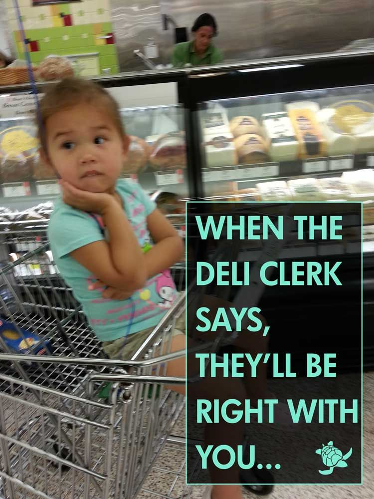 My daughter waiting for Ham at Publix | What's so funny ...