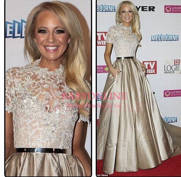 2014 vestido de festa high neck sheer lace princess ball gown with sweep train vestido de renda formal evening dress BO5995