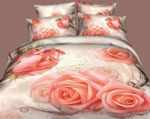 Diaidi Home Textile Rose Print Bedding 3d Oil Painting Red Rose
