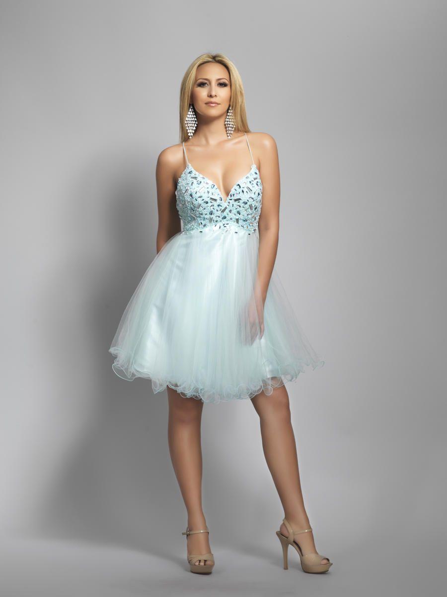 Rhinestone homecoming dresses spaghetti homecoming dresses pale