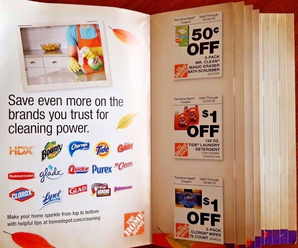 Brilliant Home Depot Fall Cleaning Coupons Book Booklet Supplies Mop Home Interior And Landscaping Dextoversignezvosmurscom