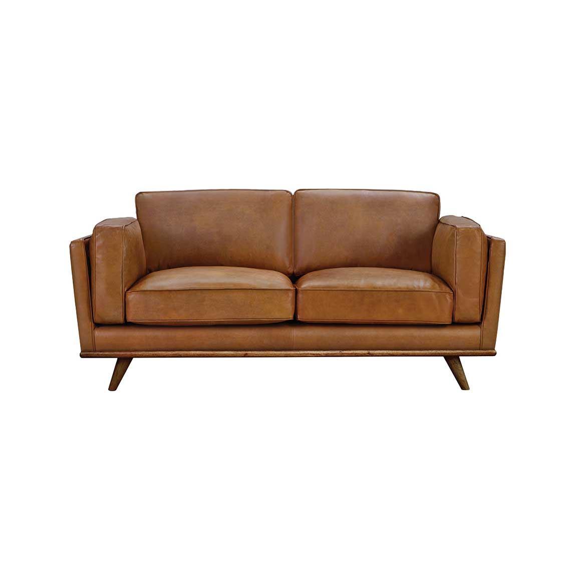 DAHLIA 2 Seat Leather Sofa   Products   Leather sofa, Sofa ...
