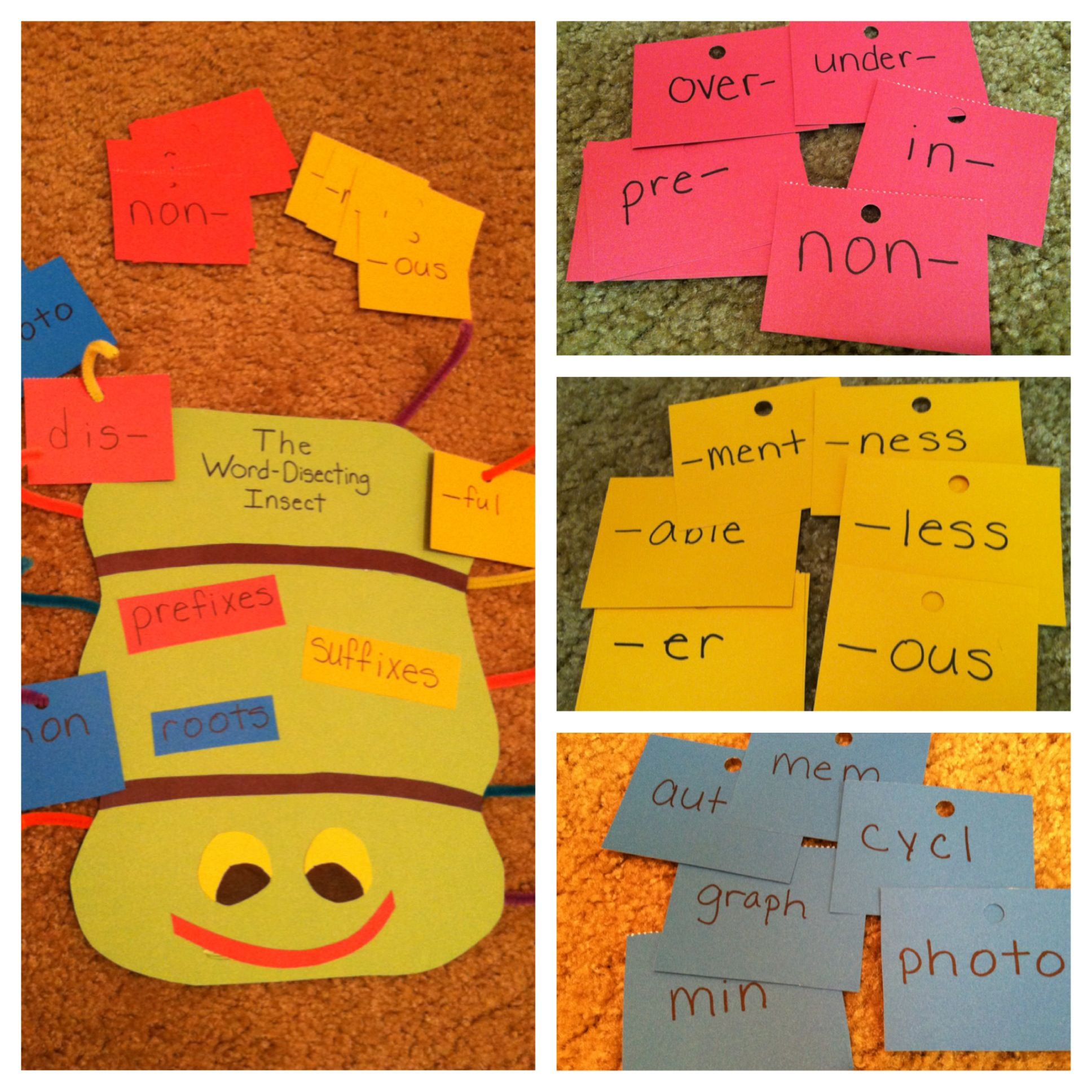 Great For Affixes And Root Word Study Students Can Also Use Cards To Form Words