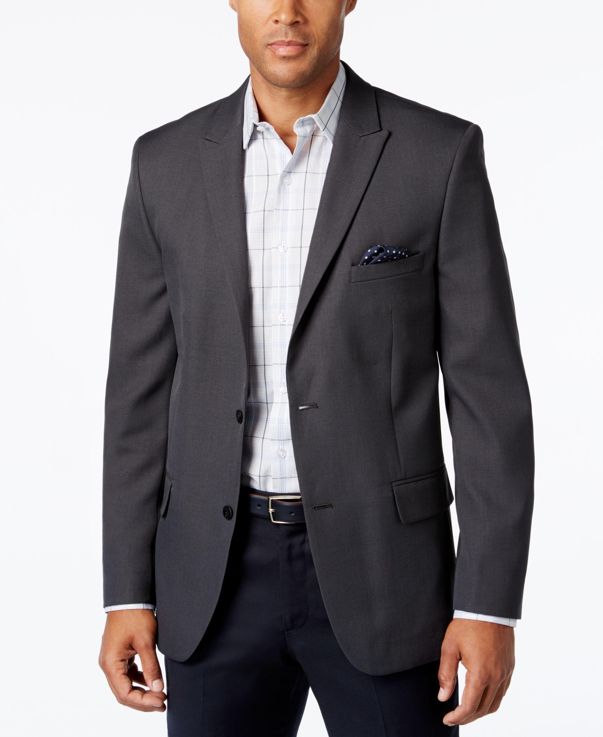 Alfani mens slimfit charcoal sport coat blazers
