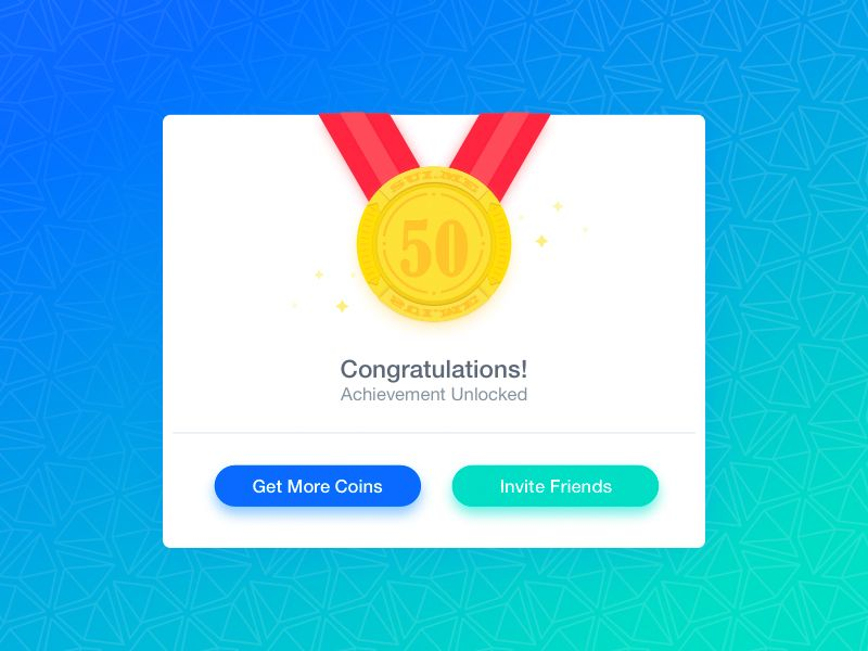 Achievement Reward Card Reward Card Achievement App Design