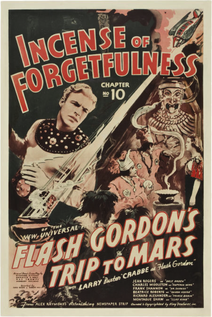 1938 Buster Crabbe serial movie poster print 3 Flash Gordon/'s Trip to Mars