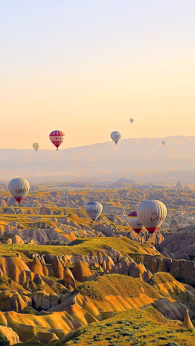 Hot Air Balloons Travel Mountain iPhone 5s wallpaper