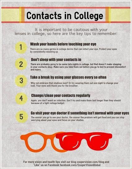 Coopervision Google Contact Lenses Tips Eye Care Health Eye Health