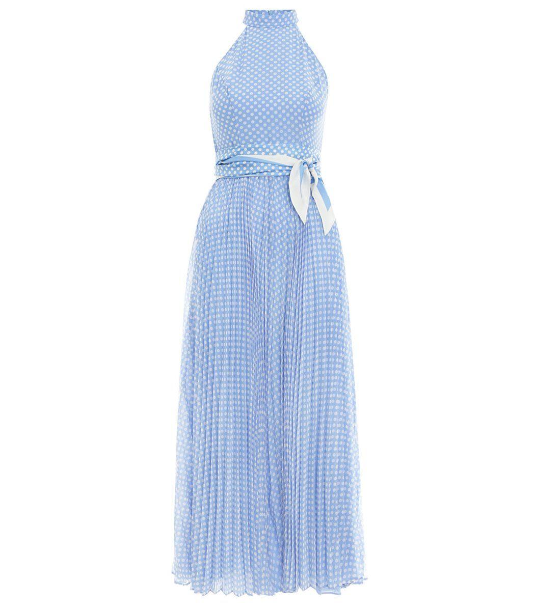 Zimmermann Super Eight Halterneck Polka-dot Crepe Dress In ...