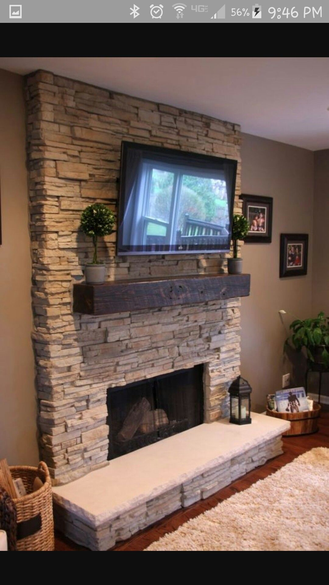 Pin by Diane Harrison on Home | Stone fireplace designs ...