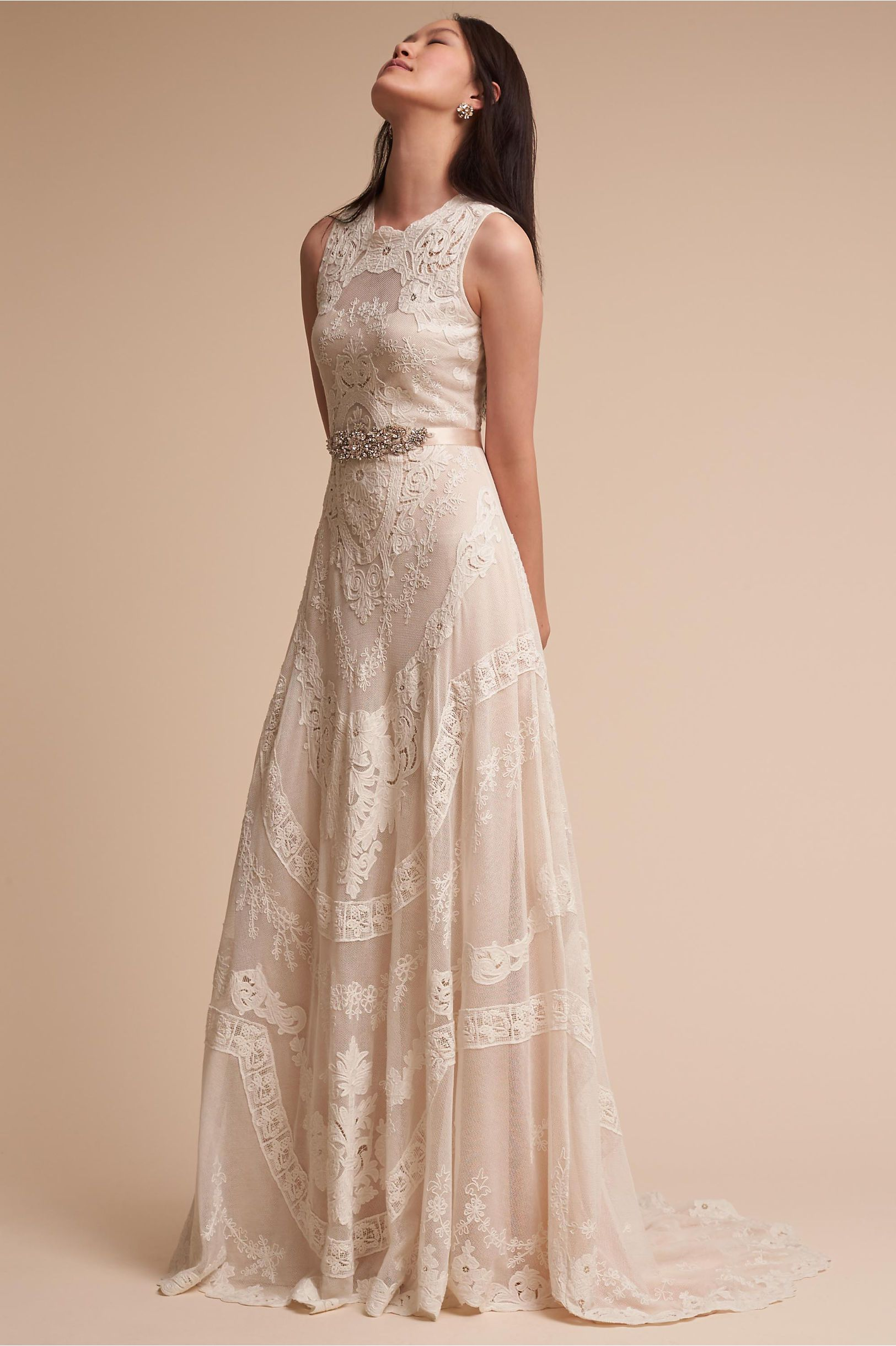 BHLDN Contra Gown Champagne in Sale | BHLDN | Bridal Collection ...