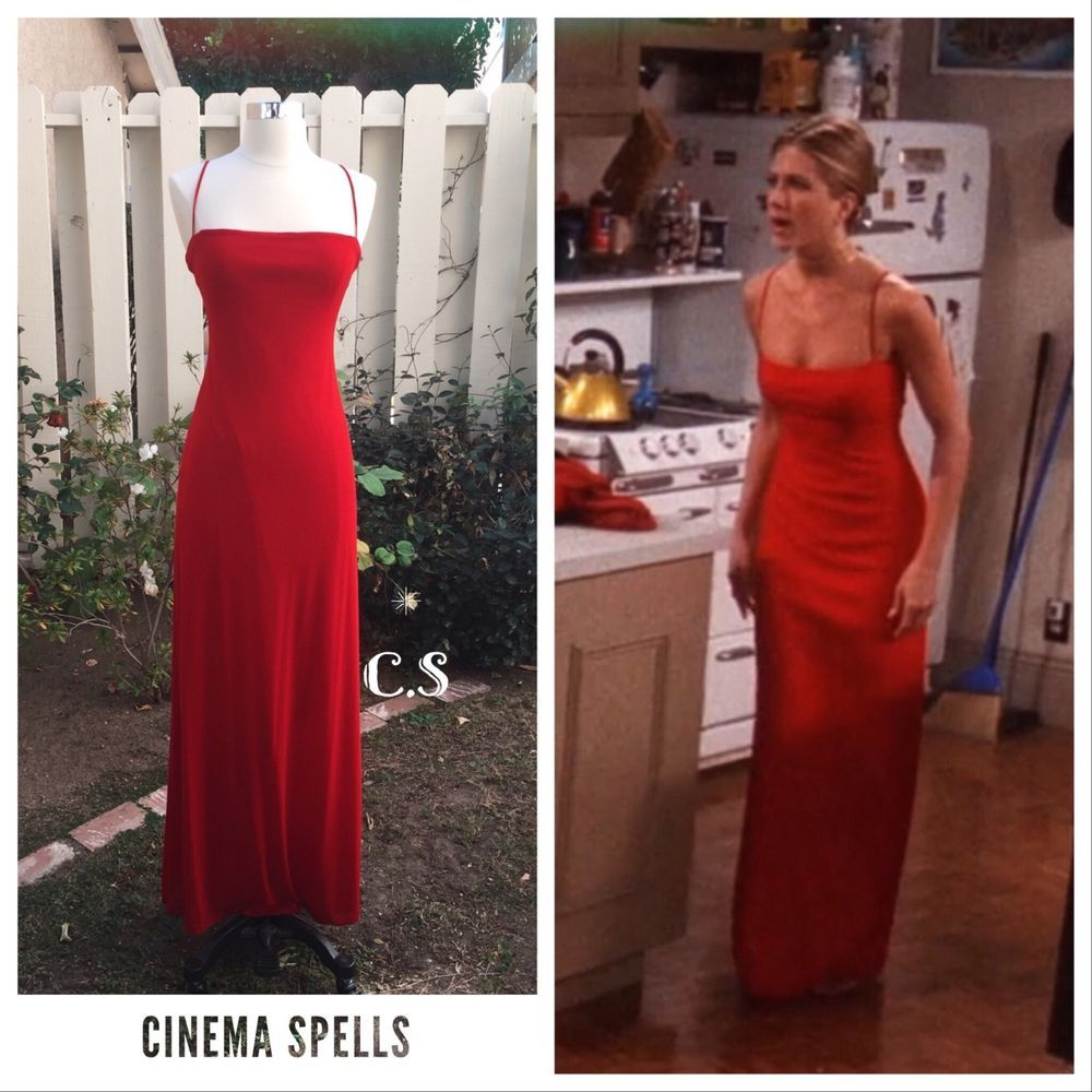 Rare Aso Rachel Green On Friends Red Laundry By Shelli Segal Gown Prom Dress 4 Vestidos Moda Anos 80 Looks Vintage Femininos [ 1000 x 1000 Pixel ]