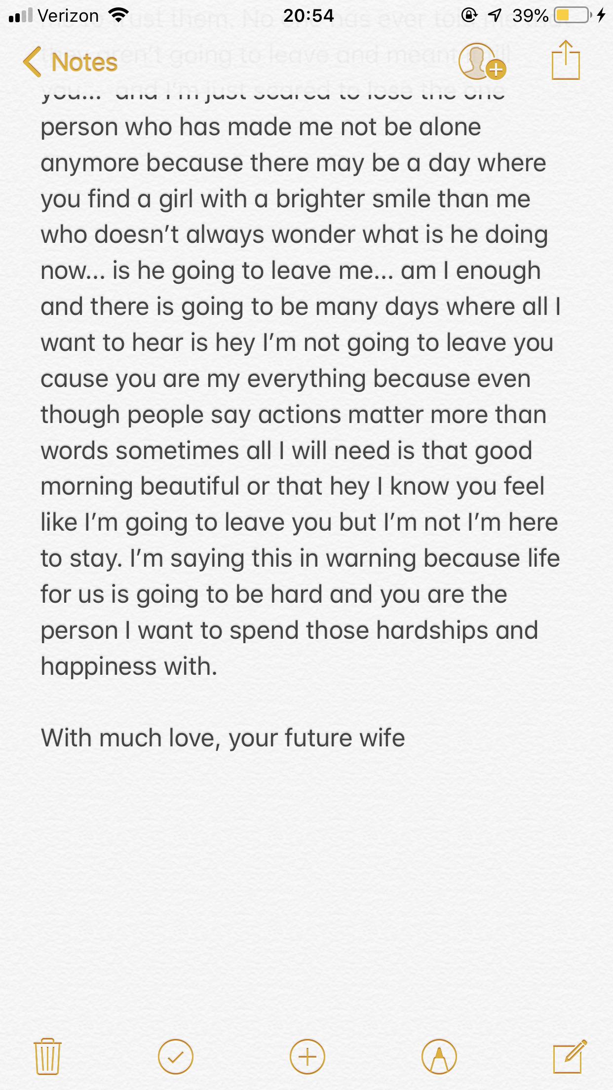 Dear Future Husband Diary Entry 1 Part 2