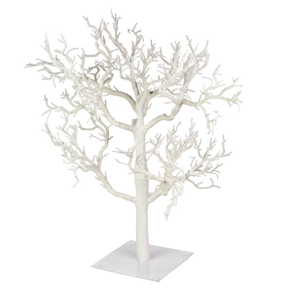 Glittered Frosted White Branch Twig Tree 70cm