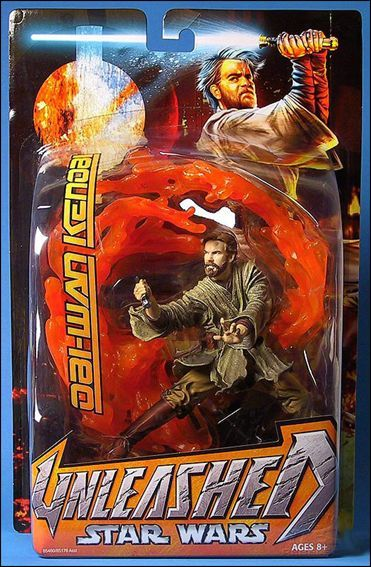 Star Wars Unleashed Obi Wan Kenobi Mustafar Episode Iii Jan 2005 Action Figure By Hasbro Juguetes
