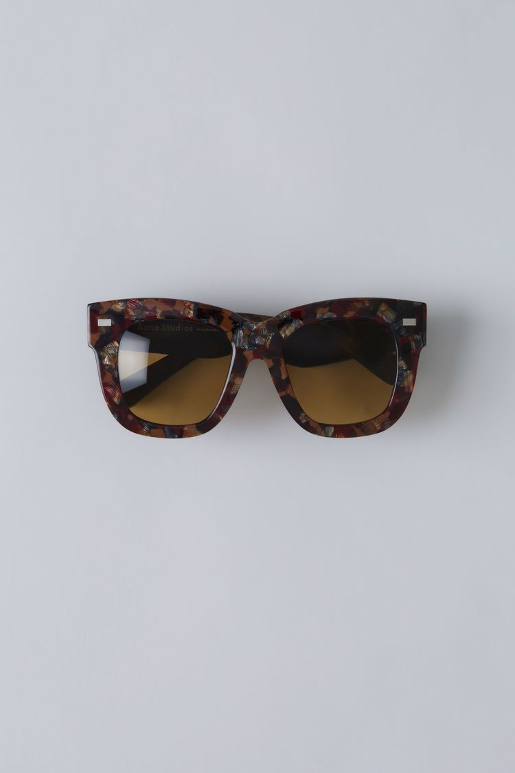 Acne Studios Library opal brown bordeaux are handmade large square frame  acetate eyewear. 1b51fcae532