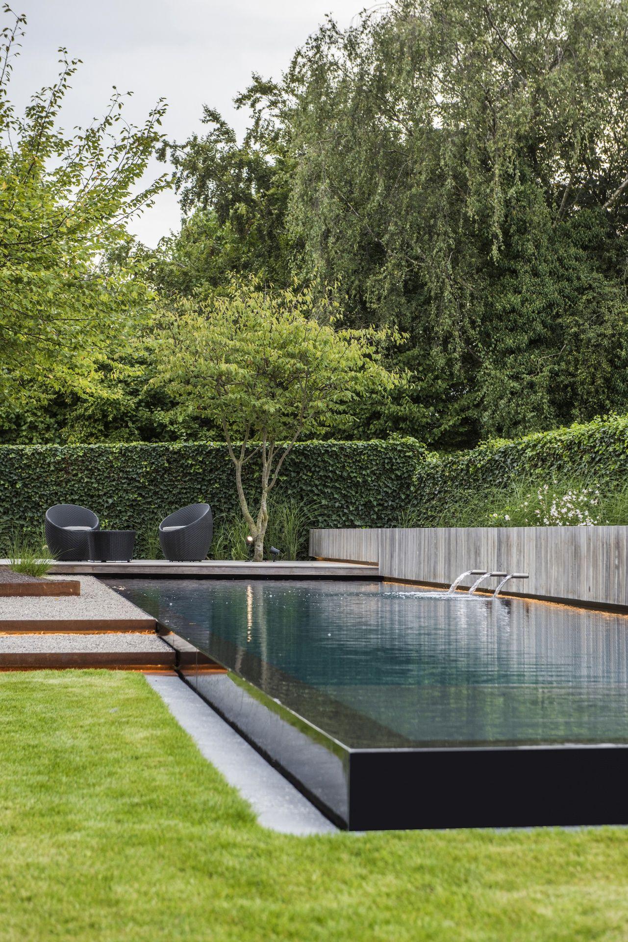 Onze tuinen stijn phlypo tuindesign zwembad vijver for Zwembad achtertuin