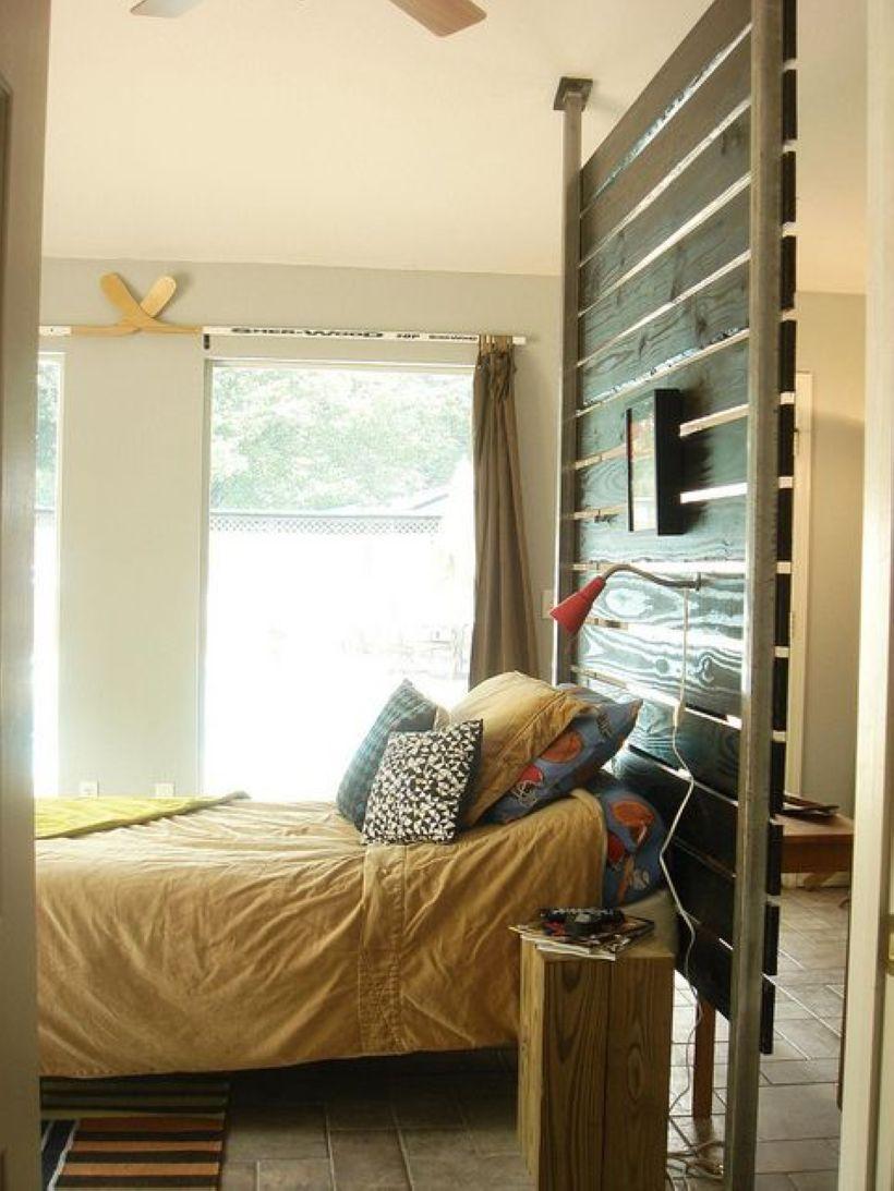 midcentury room divider design for studio apartment adjustable