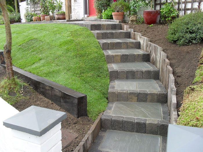 Garden Design Using Sleepers drivesett tegula original & woodstone sleepersc j pvng | decks