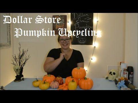 Dollar Store Pumpkin Upcycling - YouTube Crafts-Fall - hobby lobby halloween decor