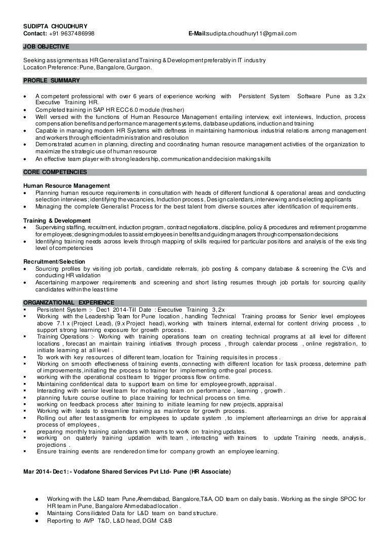 Human Resources Generalist Resume Unique Sample Resume Hr Generalist Human Resources Resume Resume Skills Resume