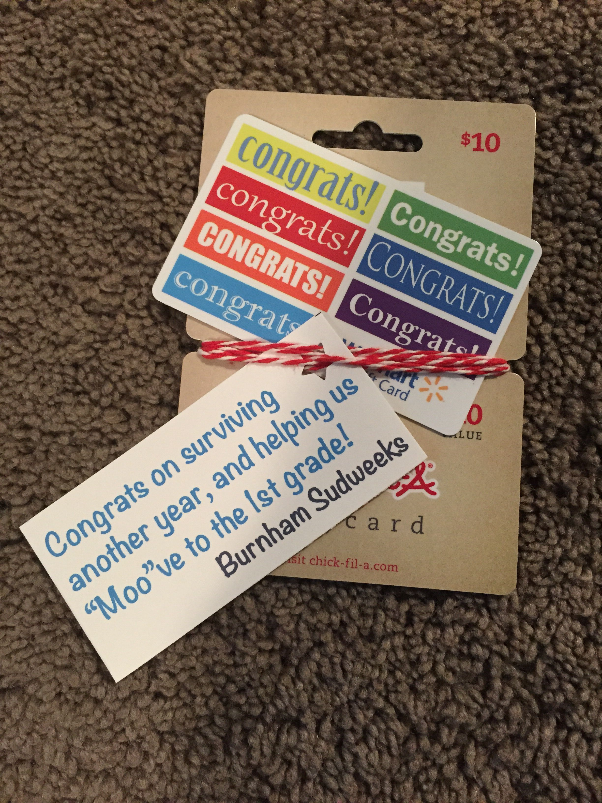 Walmart & Chick fil a t card Teachers ts Pinterest