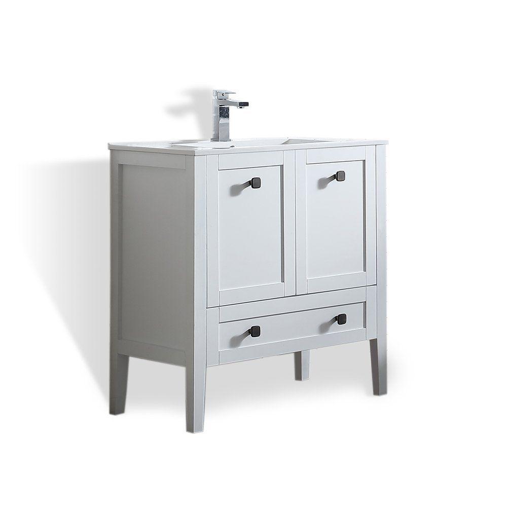 Ove Decors Andora 32 Bathroom Single Vanity In Matte White With