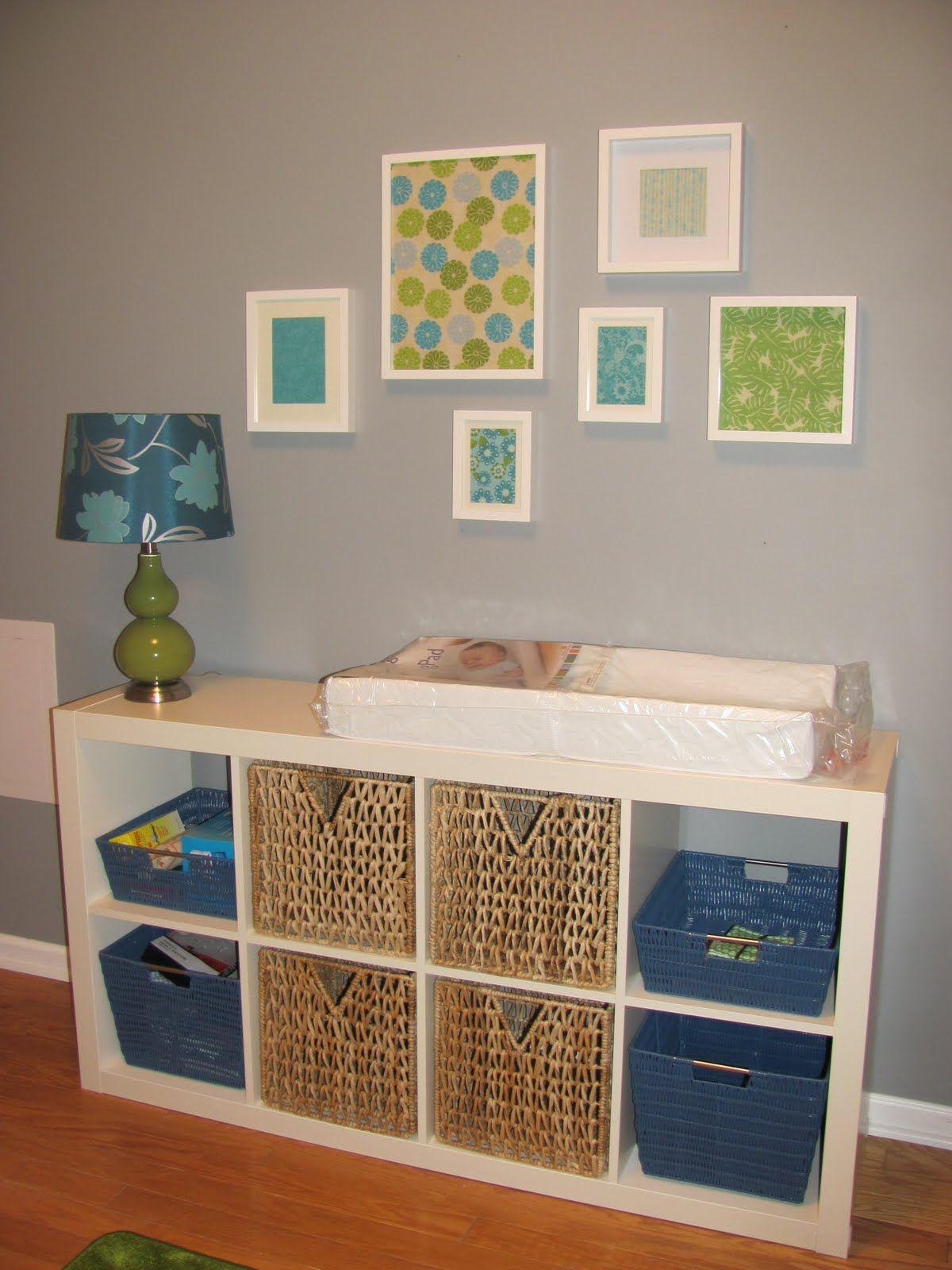 Love the ikea shelf as changing table | nursery | Church ...