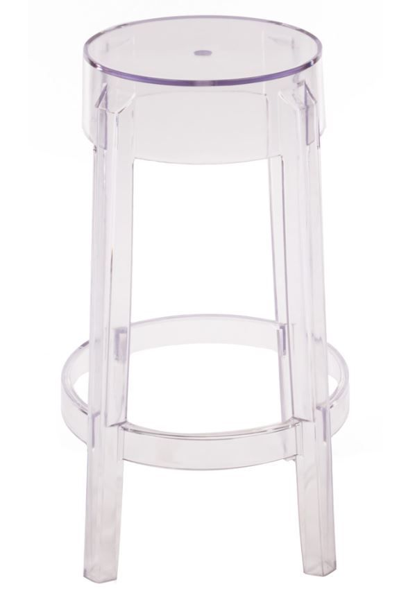 Replica Philippe Starck Charles Ghost Stool 66cm Clear Kitchen