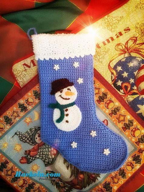 Häkeln zu Weihnachten • Nikolausstiefel #häkeln #weihnachten #sti ...