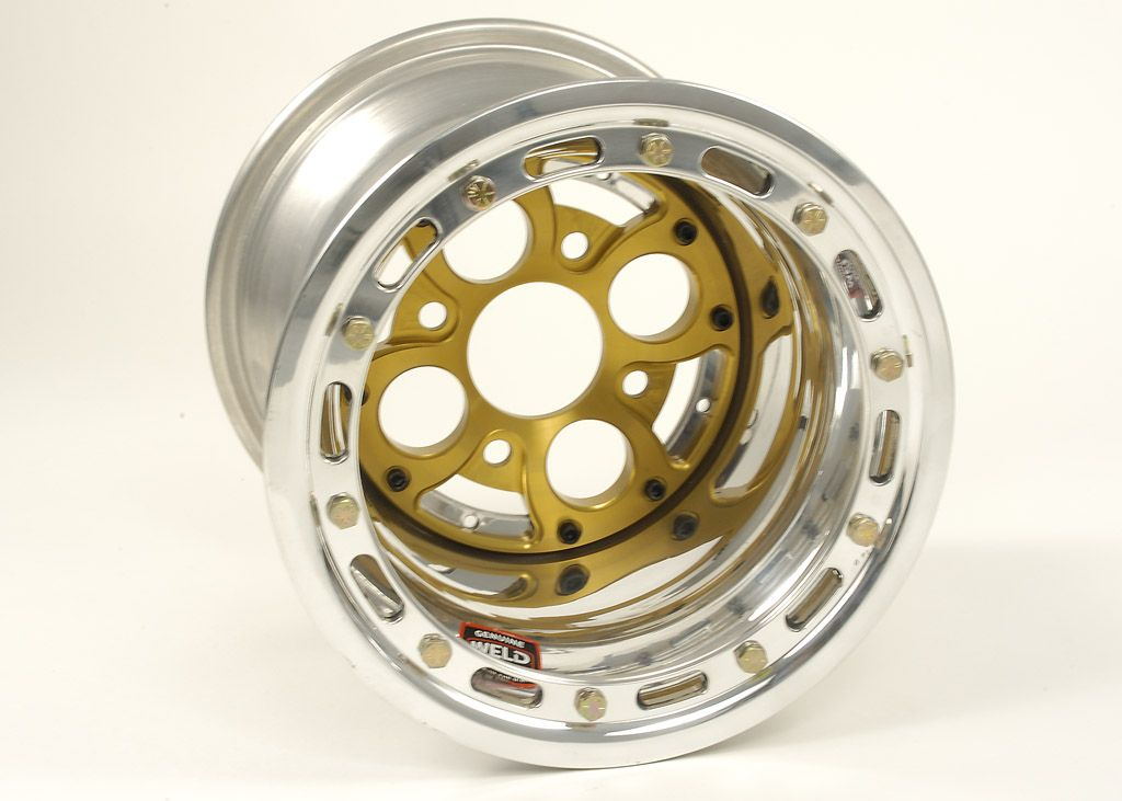 """HyperRacing - Online Store - 568-1623 - Weld 10x6 Wheel with XL 4-Pin Center (3"""" offset), Bead Lock"""