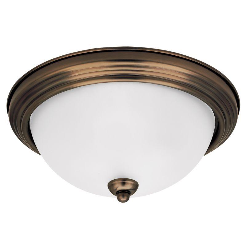 Sea Gull Lighting 77063-829 Russet Bronze Ceiling Flush Mount 1 Light Flush Mount Ceiling Fixture