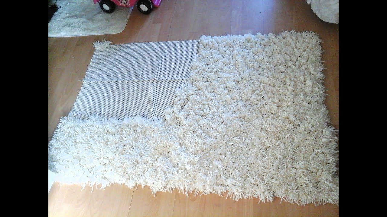 Diy antislip shaggy rug youtube in 2020 buying carpet