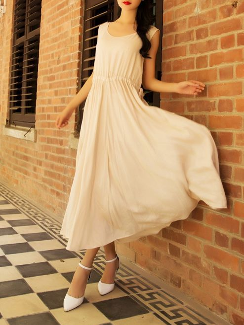 On Sales Off Sleeve Round Collar Dresses_Maxi Dress_DRESSES_Wholesale clothing, Wholesale Clothes Online From China