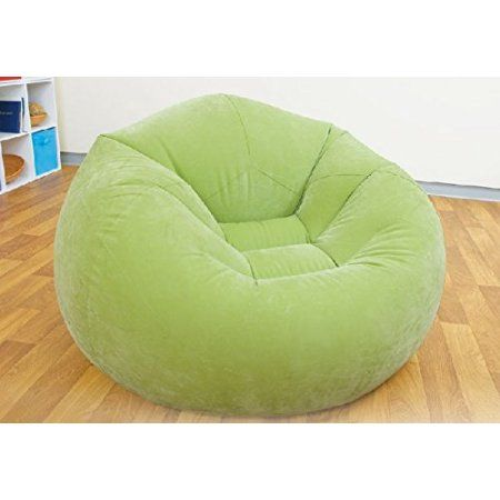 Cool Free Shipping Buy Intex Green Inflatable Beanless Bag Chair Alphanode Cool Chair Designs And Ideas Alphanodeonline