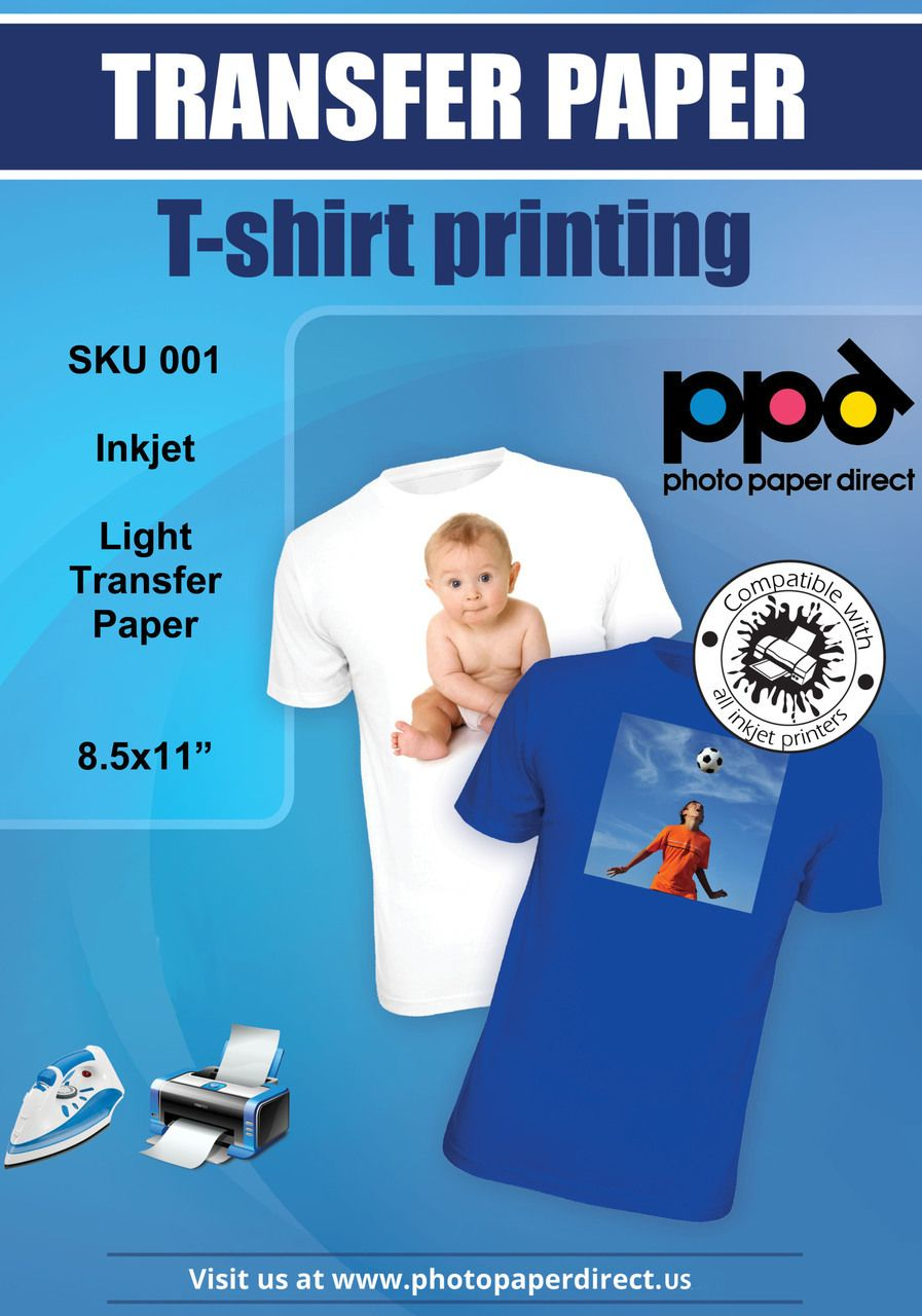 Inkjet iron on light transfer paper 8 5 x 11 photo paper direct