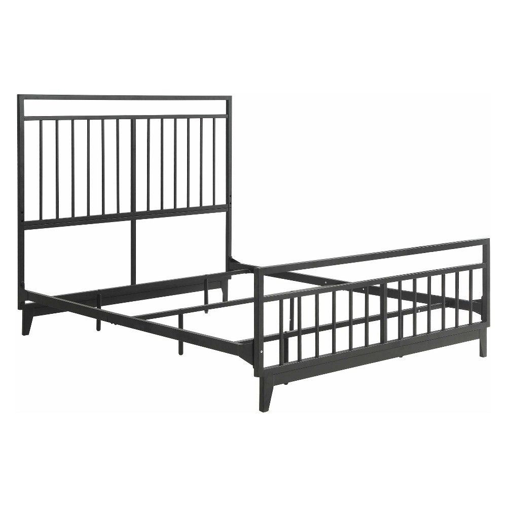 The Simple Block Design Of The Caden Metal Bed From Foremost Will