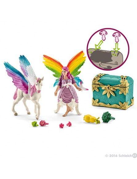 Bright Schleich Goods Of Every Description Are Available Elfe Mit Kind Auf Pferd 1