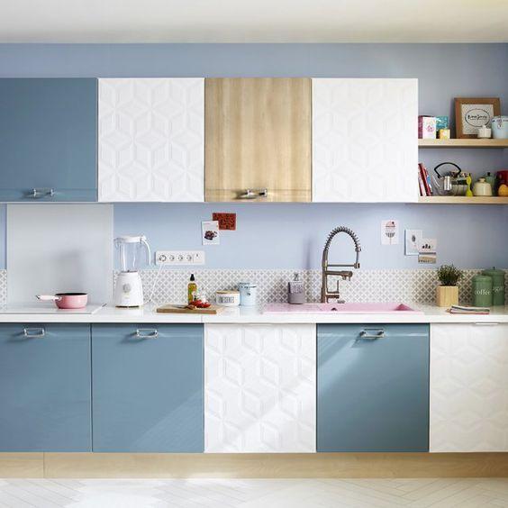 Cuisine COOKE\LEWIS Sixties vert et crème - castorama Room deco
